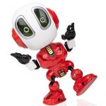 USA Toyz Toy Robots for Boys or Girls – Ditto Mini Talking Robots for Kids w/ Posable Body, Interactive Voice Changer Robot Travel Toys Stocking Stuffers (Red)