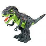 Wiscky Tyrannosaurus T-Rex Electronic Walking Jurassic Stegosaurus Dinosaur Toy Figure Swinging Tail Action Roaring Sounds LED Lights Battery Operated Christmas Kids Toys Dinosaurs Gift Boys Girls