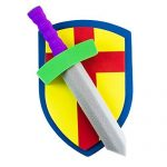 Super Z Outlet Children's Foam Toy Medieval Joust Sword & Shield Knight Set Lightweight Safe for Birthday Party Activities, Event Favors, Toy Gifts