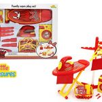 Little Treasures Family Little Helper Play Set Featuring A Hanging Rack, Washing Machine, Ironing Board and Iron From