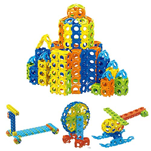 Agirlgle 300PCS Kids Building Blocks Set for Girls and Boy Creative 3D Construction Toys and Educational Toys for Kids Preschool Learning Toys Stacking Block Sets Assembled Toys Tile Game
