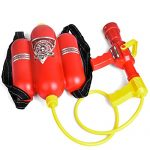 Fireman Toys Backpack Watergun Blaster Extinguisher with Nozzle and Tank Set Children Outdoor Water Toy, Beach Toy, Summer Toys, Bath Toy for Kids Gifts