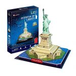 Statue of Liberty LED Light Collectible Fun Educational 3D Assembly Puzzle Model Toy 37 pieces