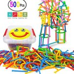500 Pcs Building Blocks Toys, A Creative and Educational 3D Puzzle Game, Interlocking Engineering Connecting Toy Set With a Smile Face Storage Box, Best Gift for Boys and Girls!