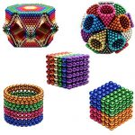 Magnetic Ball 5mm Magnetic Cube 216pcs Rolytoy Magnets Blocks Magnetic Sculpture Holders Square Cube Children's Puzzle Magic Cubes DIY Educational Toys for Kids (Colorful 5mm )