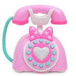 Erencook Kid Telephone Toy, Smart Phone With Light Music Kids Toys Phone Pretend Play Toys Child Baby Toddler Puzzle Toy For Learning Education Girls Birthday Gift (pink)