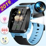 "Kids Smart Watch Phone With GPS Tracker IP68 Waterproof for 3-14 Girls Boys 1.44""Touch Screen 2 Way SOS Call Smartwatch Camera Math Games Alarm Clock Anti-Lost Wristband Learning Toys Birthday Gifts"