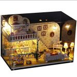 Matoen Amsterdam Village DIY Cottage Princess Room Puzzle Handmade Toys 3D Puzzle Doll House (A, As Shown)