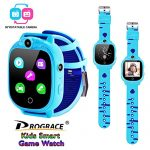 Prograce Kids Smart Game Watch with 90°Rotatable Camera Touch Screen Digital Wrist Watch Smartwatch for Boys Kids Electronic Learning Toys(Blue)