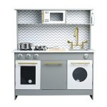 Teamson Kids Bermingham Play Kitchen, Grey/ White