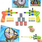 Joyin Toy Dual Battle Blasters Precision Target Set with Hunter Barrels Bullet Target and Dartboard
