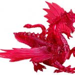 Bepuzzled Original 3D Deluxe Crystal Dragon Puzzle (56 Piece), Red