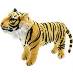 TAGLN Lifelike Stuffed Animals Toys Realistic Standing Tigers Plush Christmas Gifts and Home Decorations (Brown)