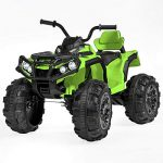 ihubdeal 12V Ride On Toy Car Truck, Spring Suspension, MP3 Multi-Function Player, LED Light (Green, M)