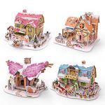 Christmas Decorations 3D Puzzles for Kids in 4 Styles, 134 PCs Jigsaw Puzzles, Xmas Gifts for Boys and Girls