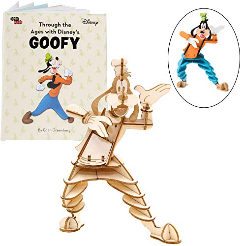 IncrediBuilds Disney Goofy Book and 3D Wood Model Kit - Build, Paint and Collect Your Own Wooden Model - Great for Kids and Adults, 8+ - 6