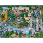 Bits and Pieces - 1000 Piece Jigsaw Puzzle for Adults - London City View - 1000 pc England Jigsaw by Artist Joseph Burgess