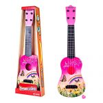 RuiyiF Toy Guitar for Toddlers Girls Boys, 4 String Acoustic Guitar with Pick for Beginners Kids/ Toddler Guitar Toy for Kids Ages 3-5 (Pink)