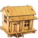 callm Educational Toy,Puzzle Toy DIY House 3D Jigsaw Puzzle Toys Wooden Adult Children's Intelligence Toys