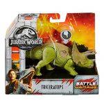 "Triceratops Jurassic World Fallen Kingdom Dinosaur 4"" Battle Damaged"