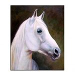 Jigsaw Puzzle 1000 Piece 3D Puzzle Wall Art, Wall Decor, Wall Lovely White Horse Print, for Wall Picture