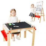 TOP BRIGHT Easel for Kids - Art Easel Kids Child Easel Table Top and Chalkboard with Storage 2 in 1 Easel for 2 to 12 Years Kids