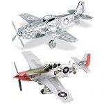 Fascinations Metal Earth 3D Metal Model Kits Set of 2 - P-51 Mustang - P-51D Mustang Sweet Arlene