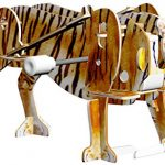 "Smithsonian Mini 5"" Tiger 3D Build & Play Motorized Puzzle"