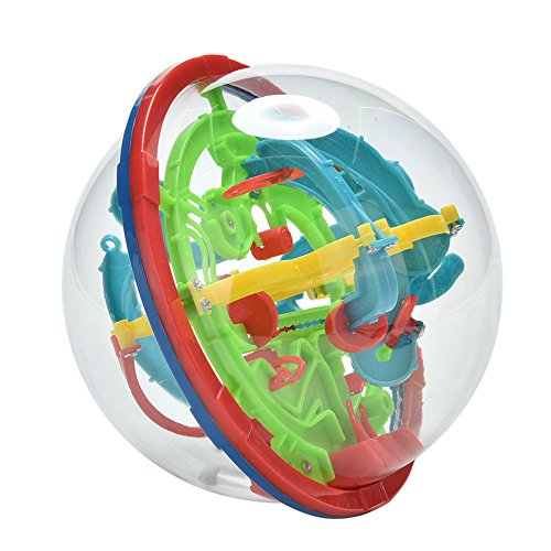 Maze Ball, 3D Magic Puzzle Game Flying Saucer Development with 100 Challenging Barriers Education Toy Children Toys