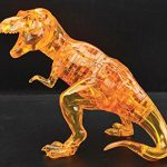 50 pcs 3d Crystal Puzzle Toys Deluxe Children's Assembly Animal Puzzle Toys, Christmas Gift/ New Year Gift/ Birthday Present for Kids (The Gold Dinosaur)