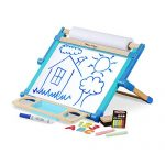 "Melissa & Doug Deluxe Double-Sided Tabletop Easel, Arts & Crafts, Sturdy Wooden Construction, 42 Pieces, 17.5"" H x 20.75"" W x 2.75"" L"