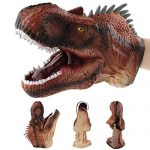 Realistic Tyrannosaurus Rex Hand Puppets Role Play Toys for Kids,Interactive Dinosaur Head Gloves Soft Dino Pretend Educational Toy for Toddler Boys Girls Kids,6.7×8.3 inches
