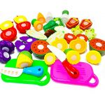 Sinrida 20 Pieces Kitchen Toys Fun Cutting Fruit and Vegetables Pretend Food Playset for Kids, Educational Play Food Set for Children Girls Boys Pretend Food Toys (20 Pieces Fruit and Vegetable Toys)