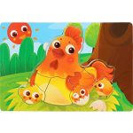 Roysberry Toys - Advanced Wooden Educational Toys Hen Laying Eggs 3D Puzzle Shape Color Drawingboard Block Animals Puzzles Toys - Birthday Gift Toy Jigsaw Puzzles for Kids Ages 4-8