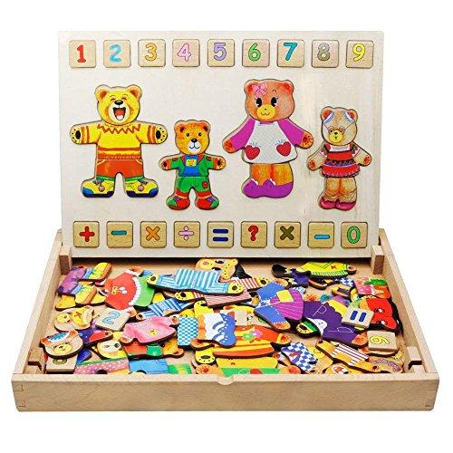 FLERISE Kid's Magnetic Puzzles Learning Kit Education Learning Toys for Children