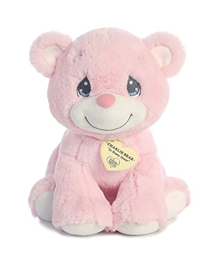 Aurora World Precious Moments Charlie Bear, So Beary Sweet, Pink, 12