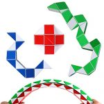 Ganowo 3PCS Big Size Easter Basket Stuffers Fidget Snake Cube Twist Sensory Toys