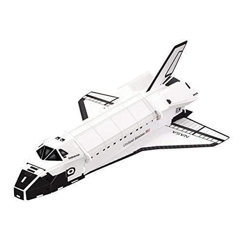 Space Ship Shuttle 3D Puzzles for Adults and Kids | Spaceship Toy | 25 Pieces | by POP-OUT WORLD