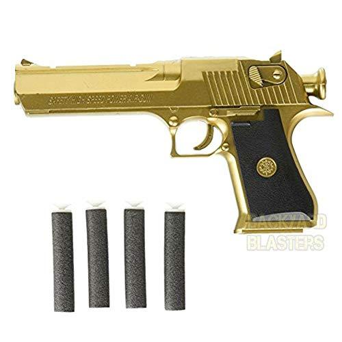 Backyard Blasters Golden Desert Eagle Toy Foam Dart Gun for Kids and Dart Gun Toy for Adults