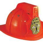 Jr. Fire Fighter Red Helmet w/Lights & Siren Costume Hat Child