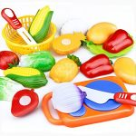 Gbell Kids Kitchen Set -12 Pcs Pretend Play Food Toys,Fun Kitchen Cutting Fruits and Vegetables Educational Toys,Birthday Gifts for Ages 2 3 4 5 6 Year Old Kids Toddler Boys Girls (Multicolor)