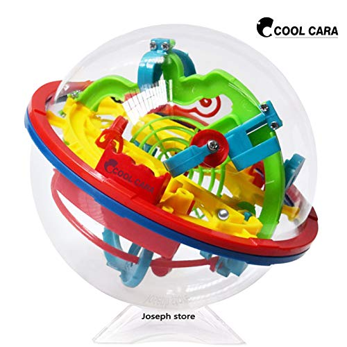 Cool Cara Puzzle Ball 3D Maze Ball Game Intellect Puzzles Labyrinth Sphere, Brain Teasers Puzzle 100 Shut Challenging Barriers 5.12x4.72in (0.16lb)