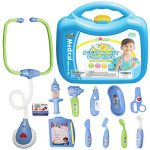3 Bees & Me Doctor Kit for Kids - Toy Doctor Kit with Stethoscope That Beats & 12 Fun Medical Toys in Durable, Easy Carry Case - Pretend Play Doctor Set for Boys & Girls Age 3 and Up