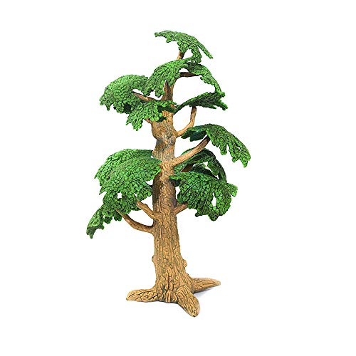 Wenini Simulated Tree - Mini Tree Decor - Baby Kids Developmental Educational Simulated Plastic Tree Children Toy Birthday Gift (Medium Tree - 13.5cm)