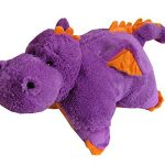 "Purple Dragon Zoopurr Pets 19"" Large, 2-in-1 Stuffed Animal and Pillow 