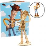 Disney Pixar: Toy Story Woody Book and 3D Wood Model Figure Kit - Build, Paint and Collect Your Own Wooden Model - Great for Kids and Adults, 8+ - 5 3/4""