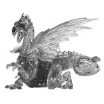 Deluxe 3D Crystal Puzzle - Dragon (Black): 56 Pieces