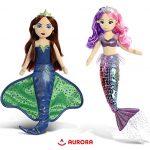"Warp Gadgets Bundle - Sea Sparkles - Sea Iris 18"" and 18"" Villain Lilith Mermaid Plush (2 Items) Plush Toys"