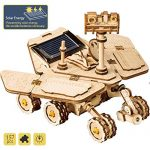 ROKR 3D Wooden Puzzle Solar Energy Models Kits- Laser Cutting Wooden Model Building Kits Space Hunting Rover