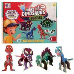 Imagination Kids Educational 3D Puzzle Make Your OWN Dinosaurs - 4 Five Piece Animal Sets